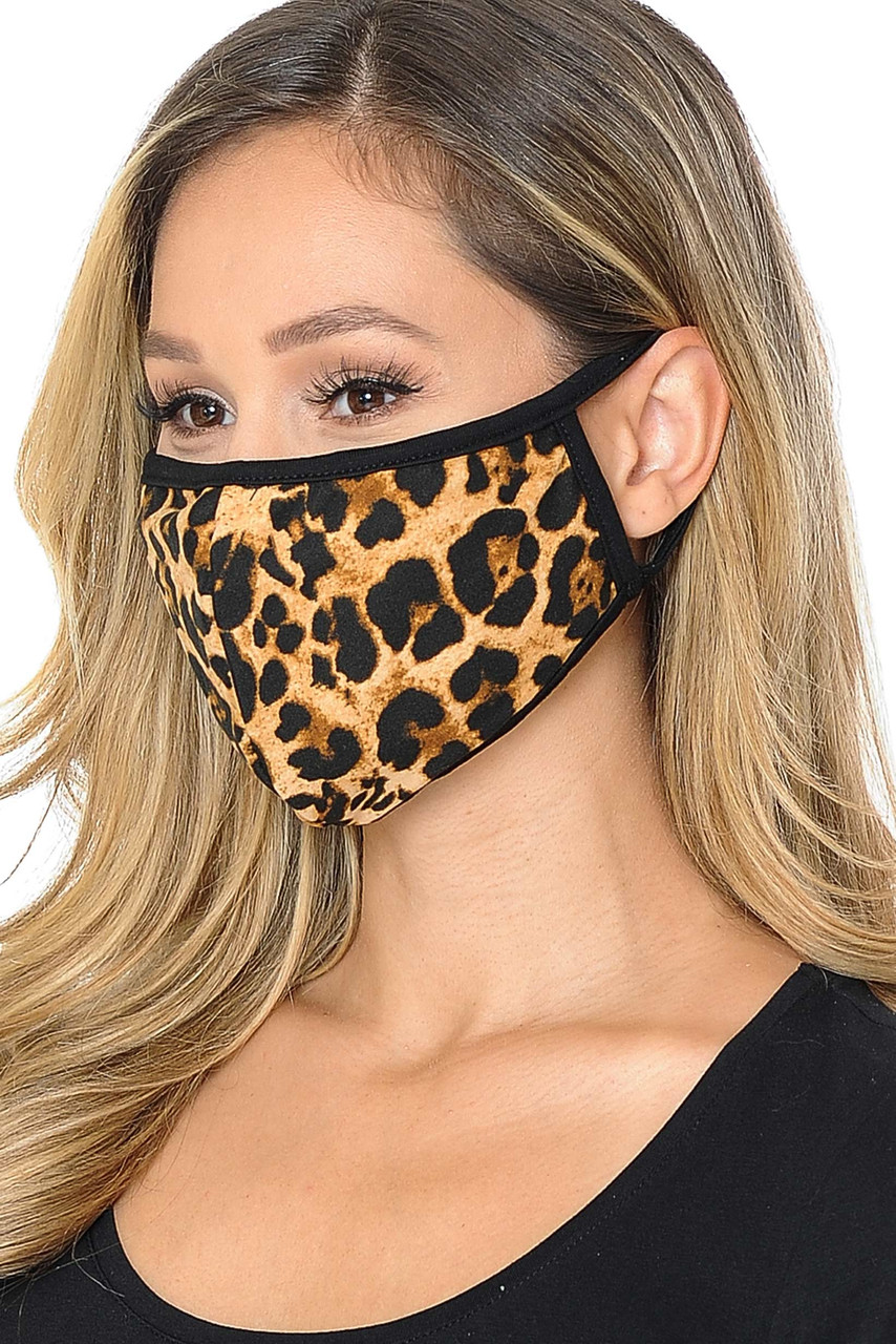 Fashion Face Mask - 2-Ply Polyester Cotton Mix with PM2.5 Filter Pocket - Made in USA