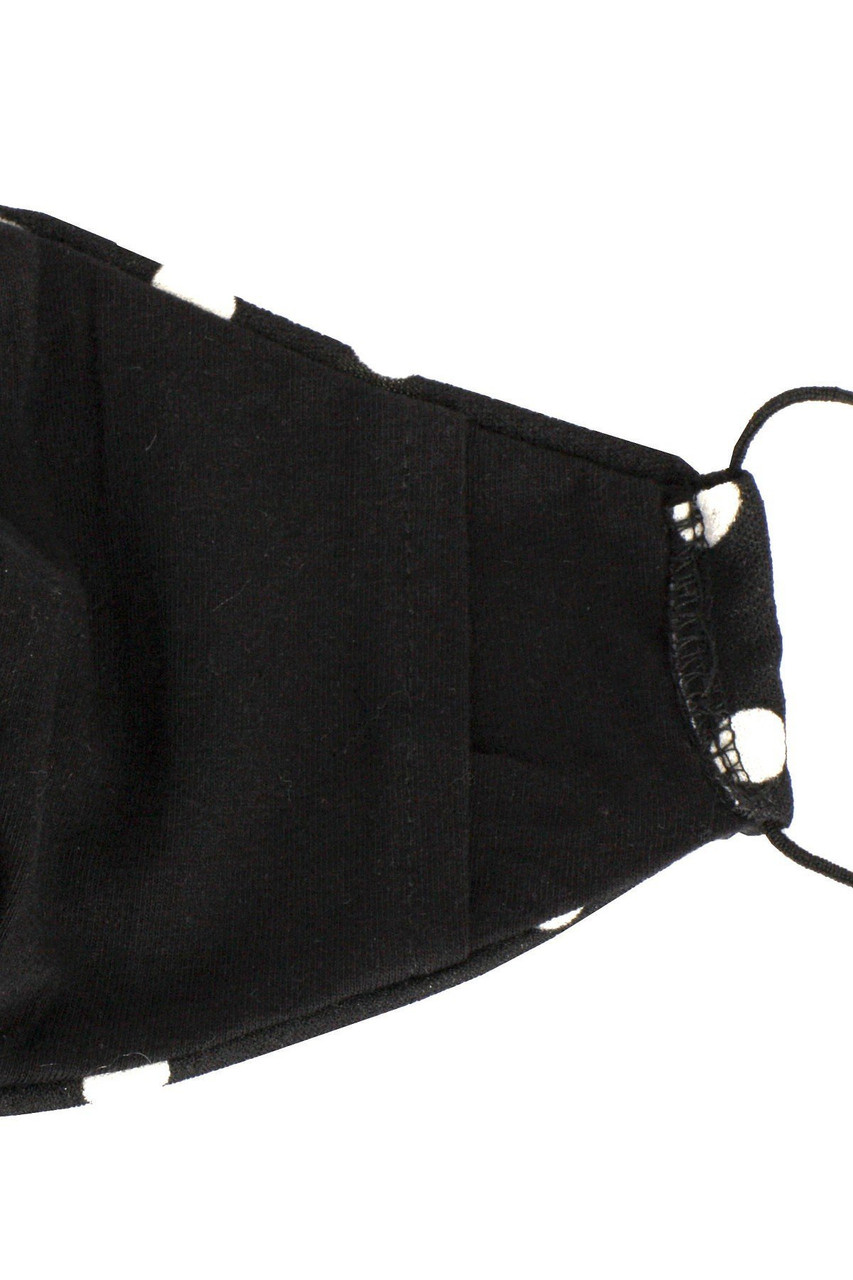 Black Polka Dot Face Mask - Made in USA