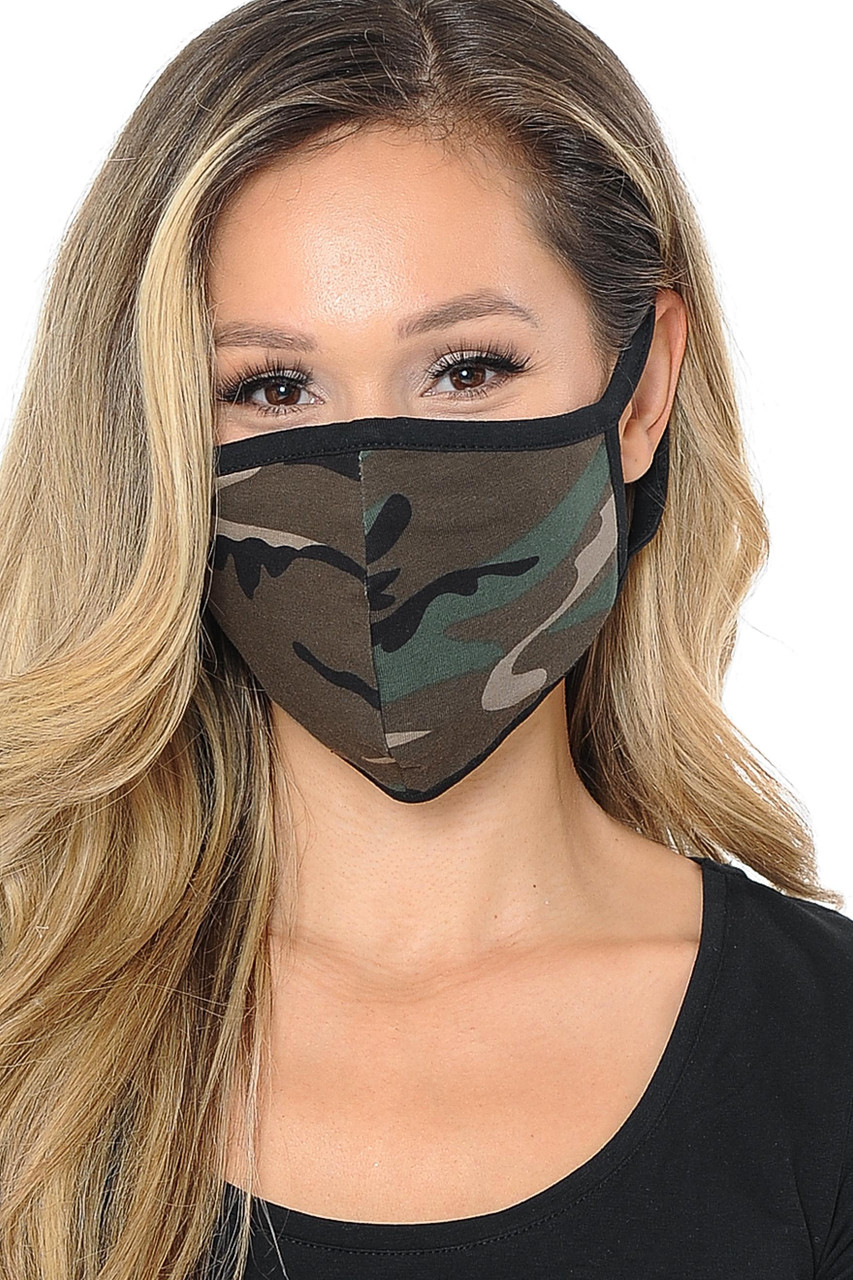 Unisex Camouflage Face Mask - Made in USA