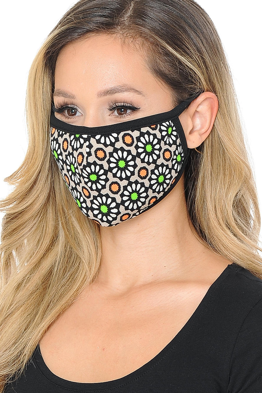 Groovy Floral Face Mask - Made in USA