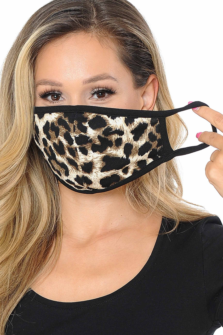 Unisex Leopard Face Mask - Made in USA