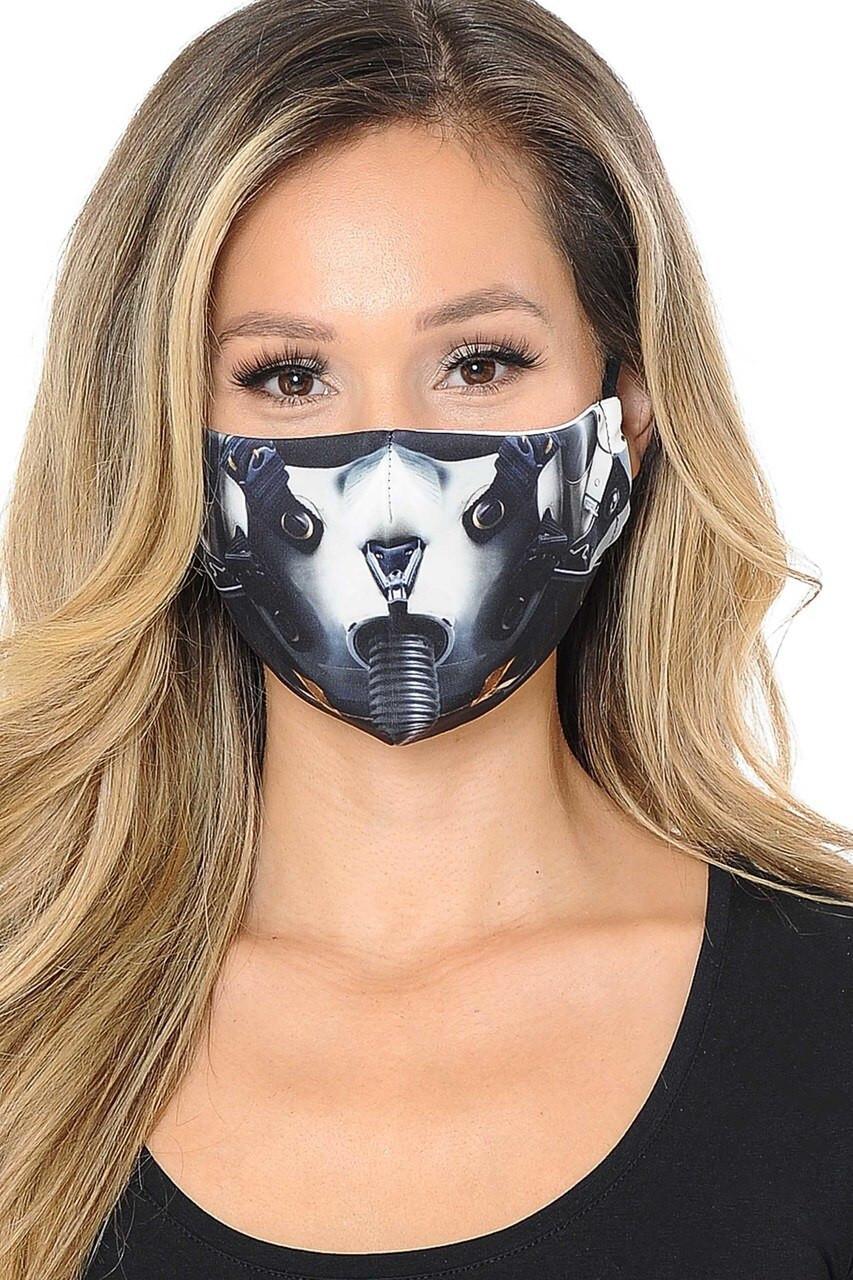 Top Gun Fighter Pilot Graphic Print Face Mask