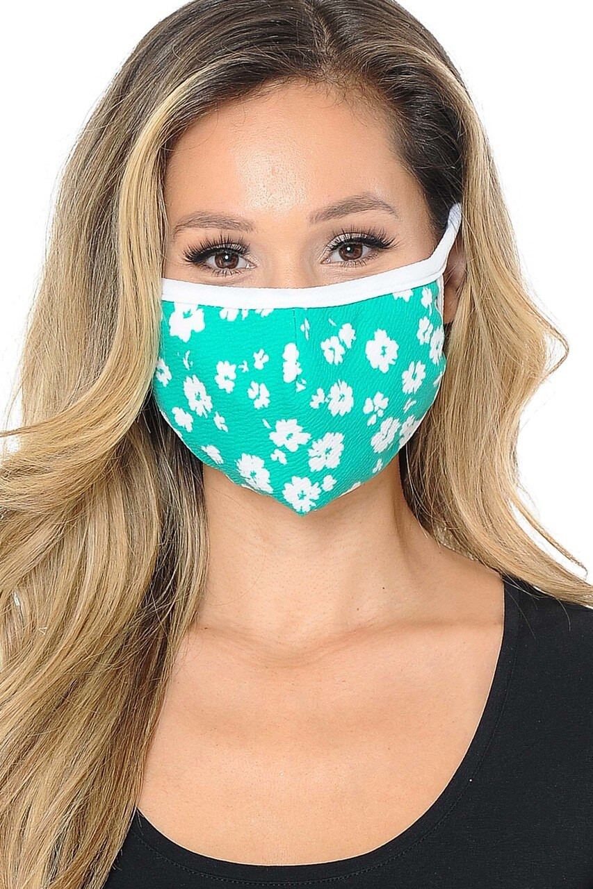 Dainty Floral Kids Face Mask - Made in USA