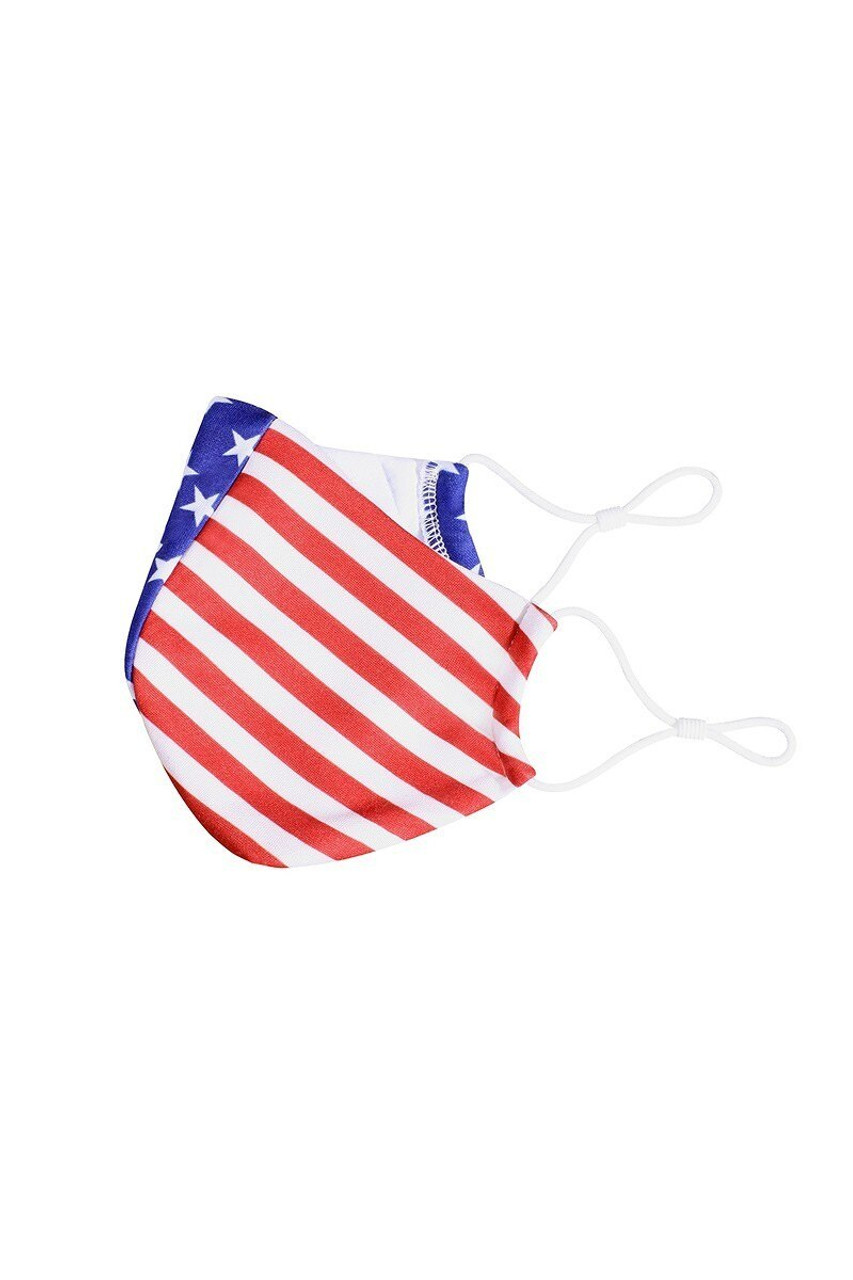 Premium Stars and Stripes Fashion Face Mask - Made in USA