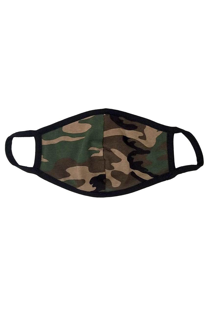 Men's Camouflage Cotton Face Mask - Made in USA