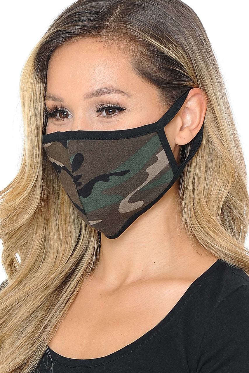 Women's Camouflage Cotton Face Mask - Made in USA