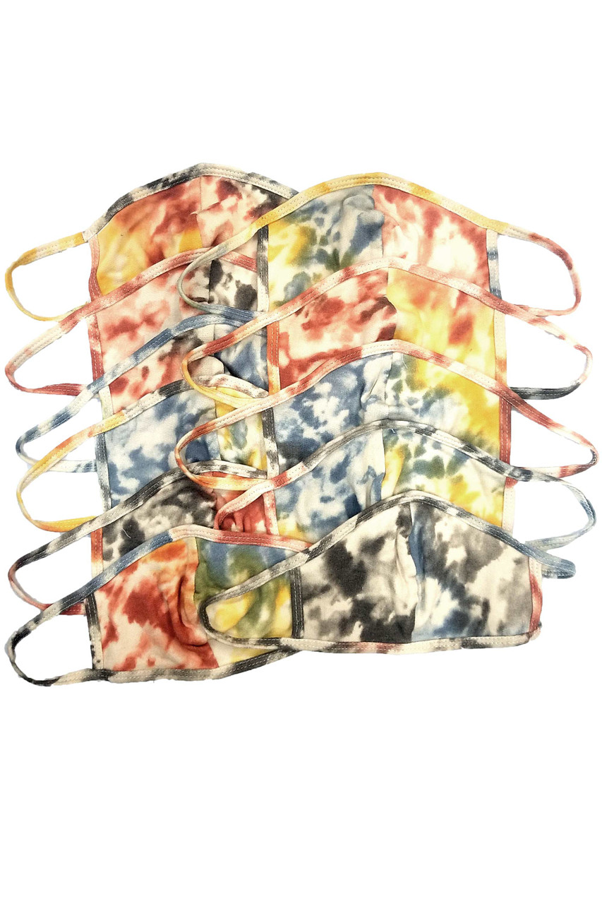 Unisex Earthen Tie Dye Face Mask - Made in USA