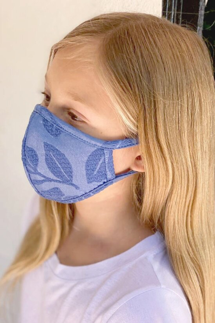 Kids Embroidery Styled Floral Face Mask - Made in the USA