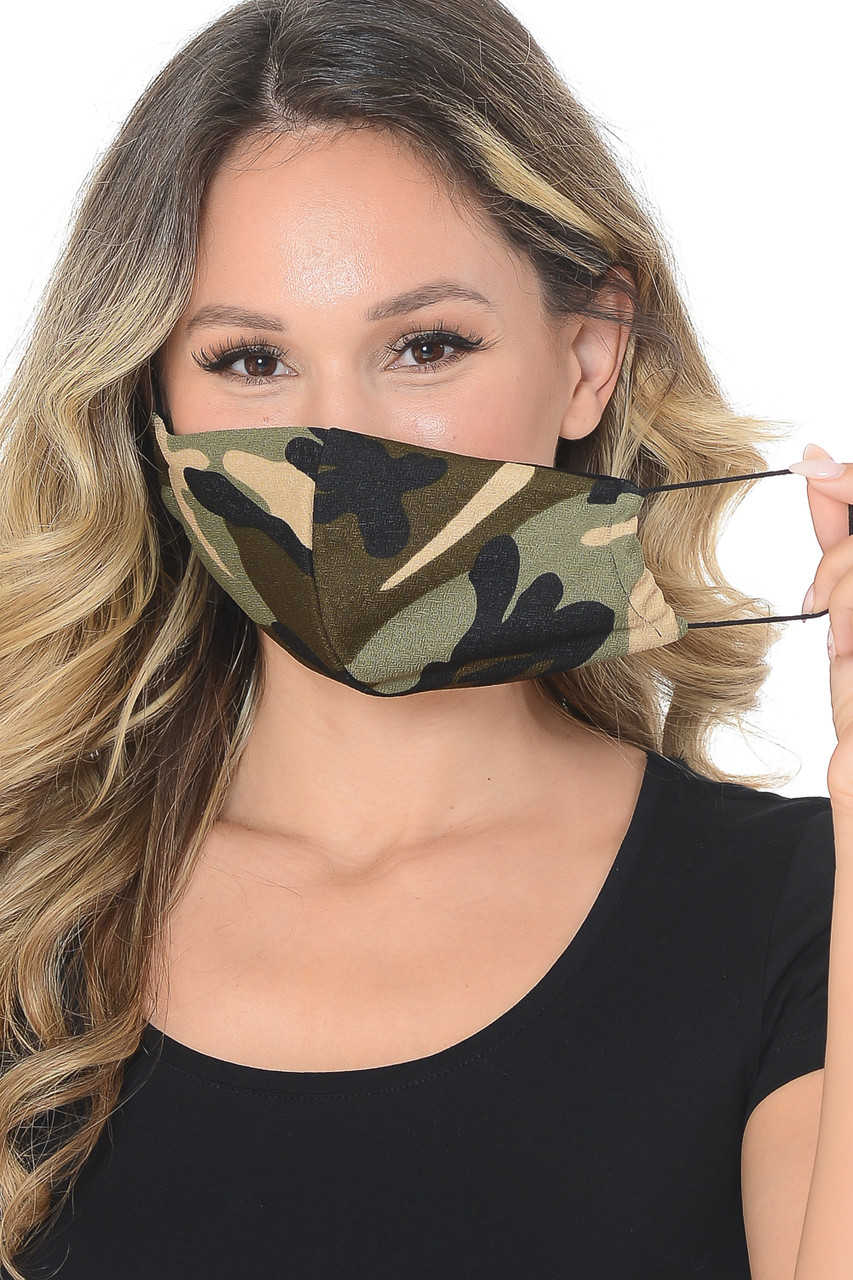 Chic Camouflage Fashion Face Mask - Made in USA