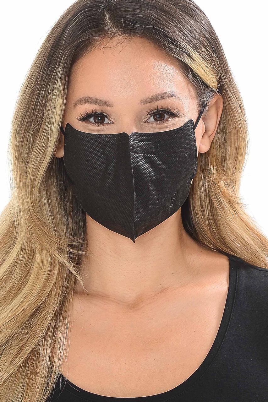 Black Oral Filtration Nano Filter Disposable Face Mask
