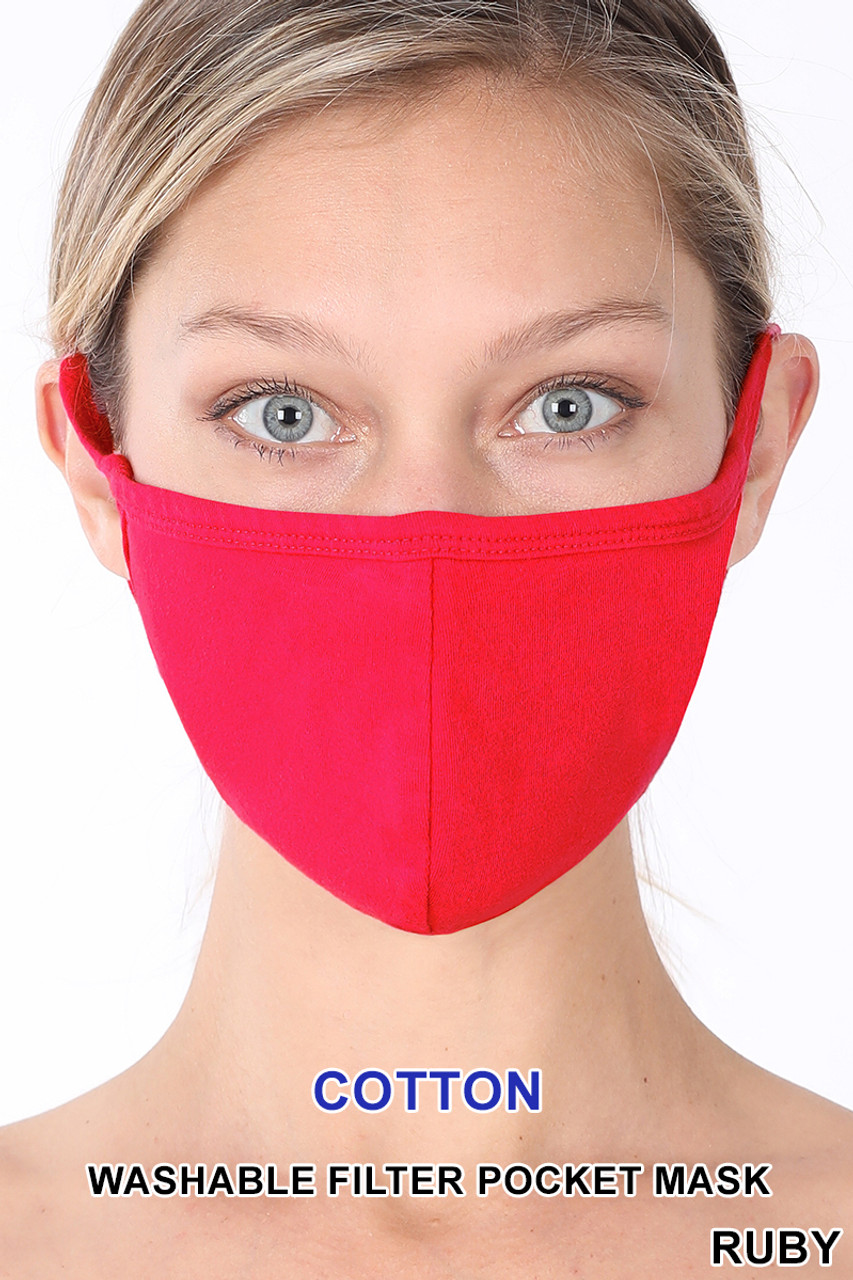 Solid Cotton Face Mask - Imported