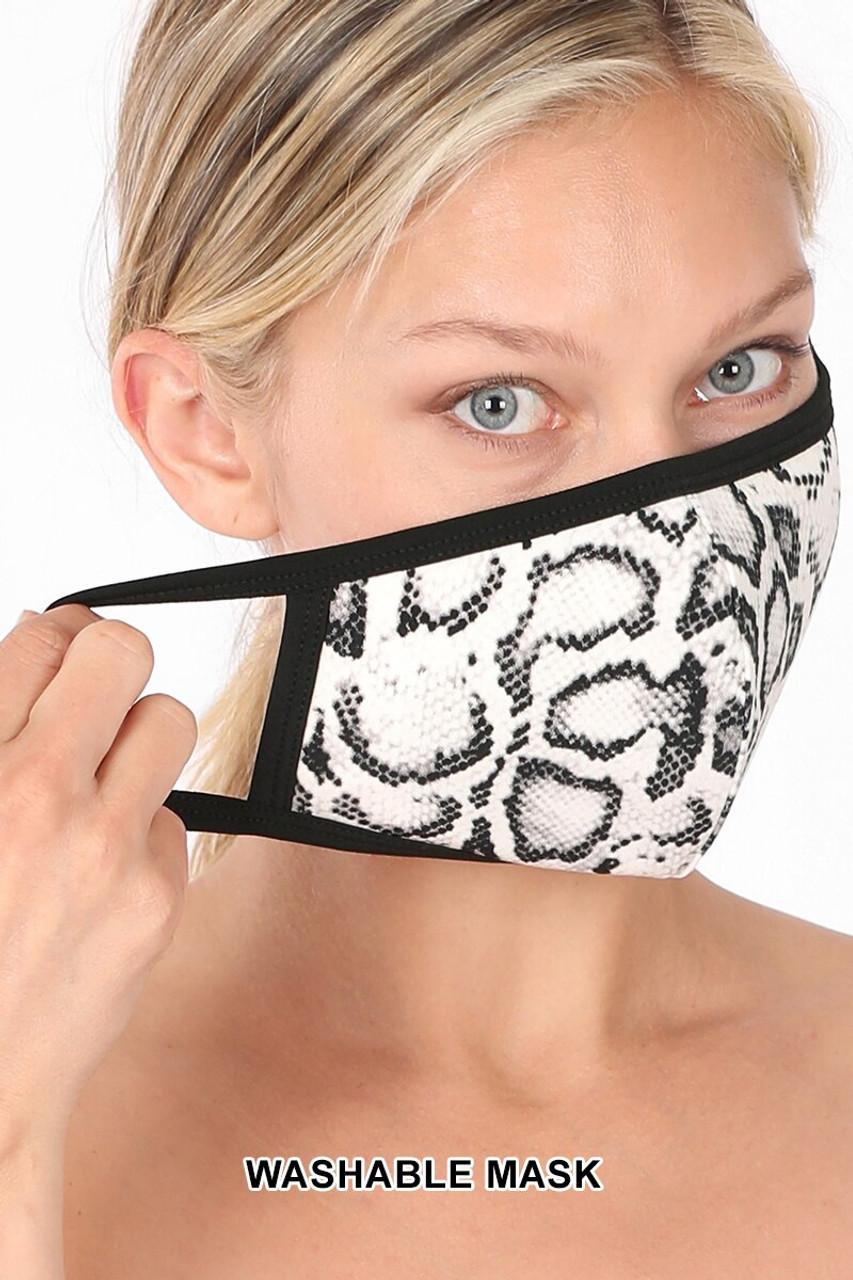 Snakeskin Face Mask - Imported