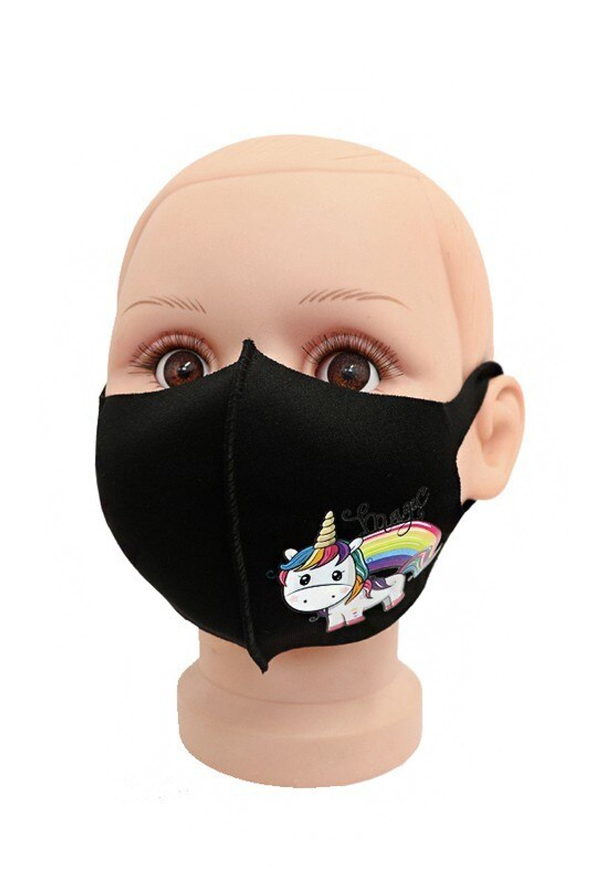 Reusable Single Ply Kid's Unicorn Face Masks - 12 Pack - LIMITED SUPPLY