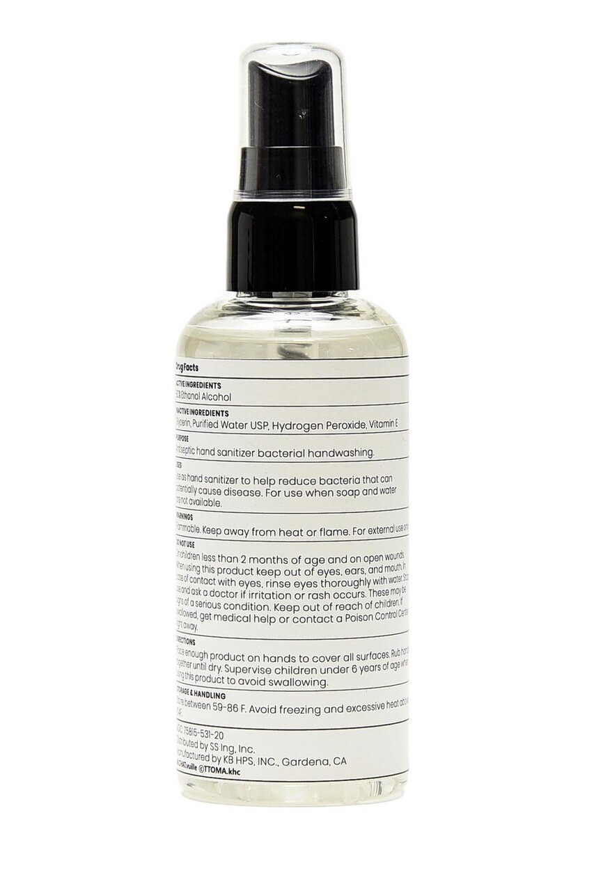 Face Mask and Hand Sanitizer Spray - 80% Ethanol Alcohol - Made in the USA