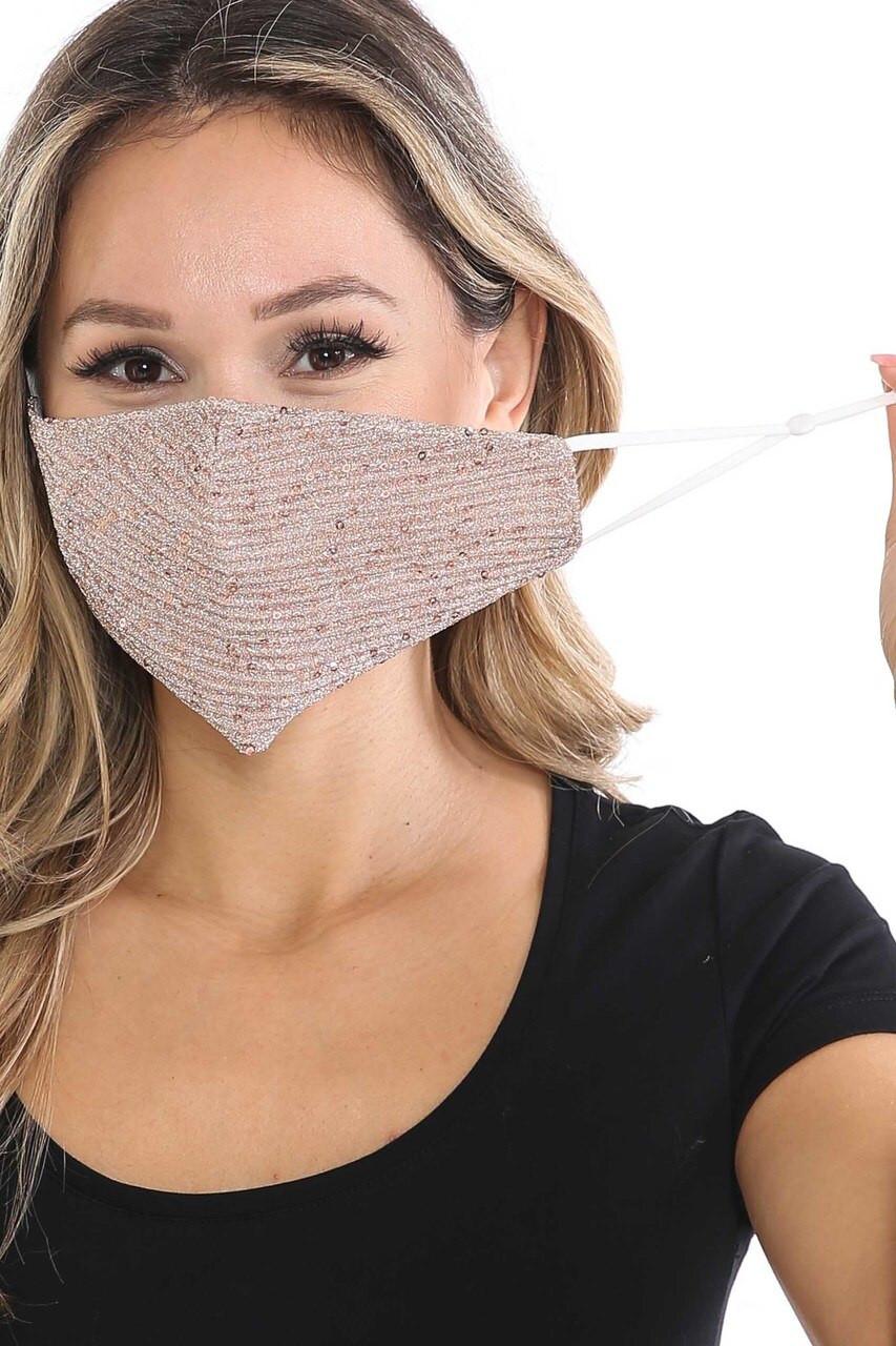Dainty Sequin Fashion Face Masks