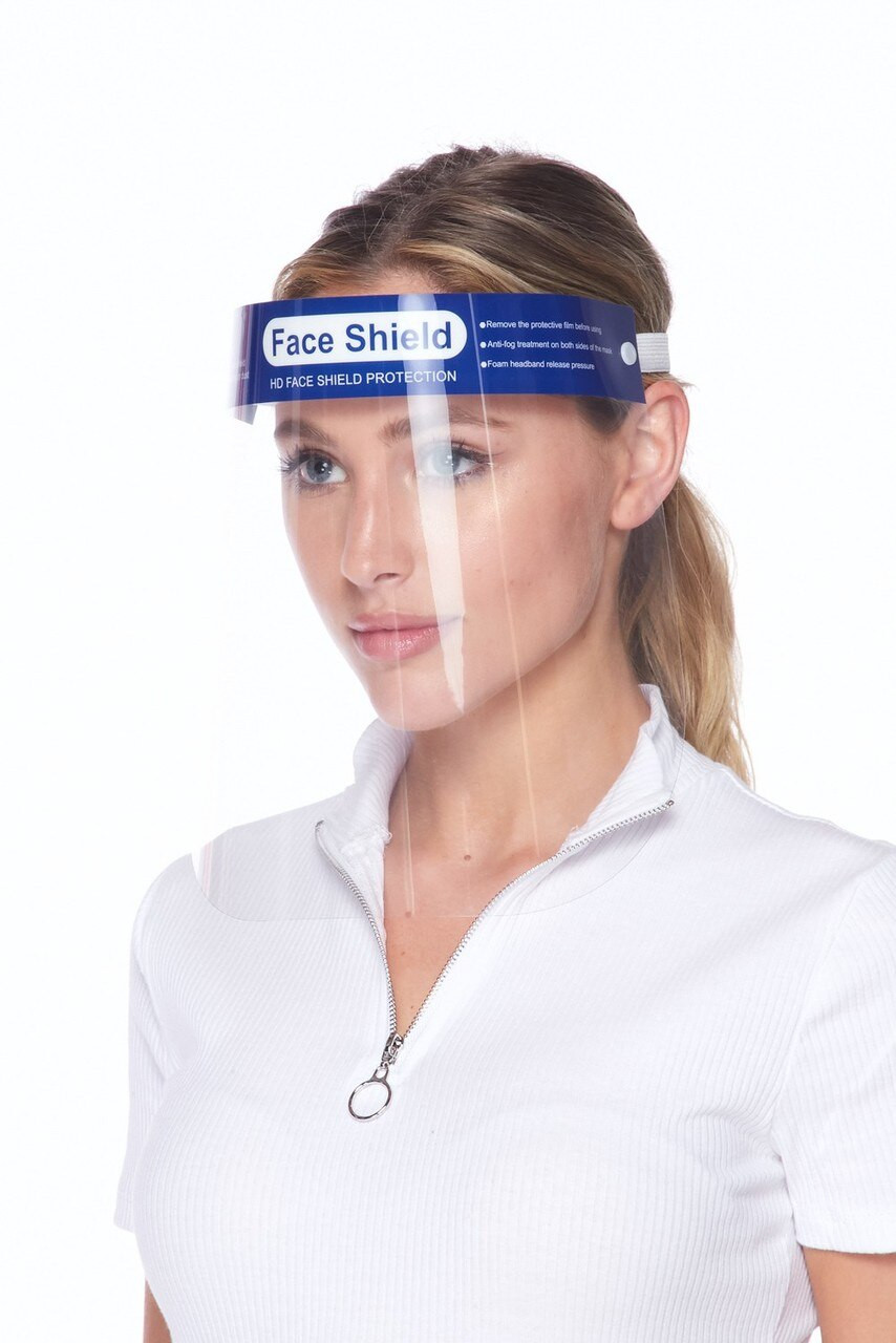 Protective Face Shield - Anti Splash Film with Adjustable Band and Comfort Sponge
