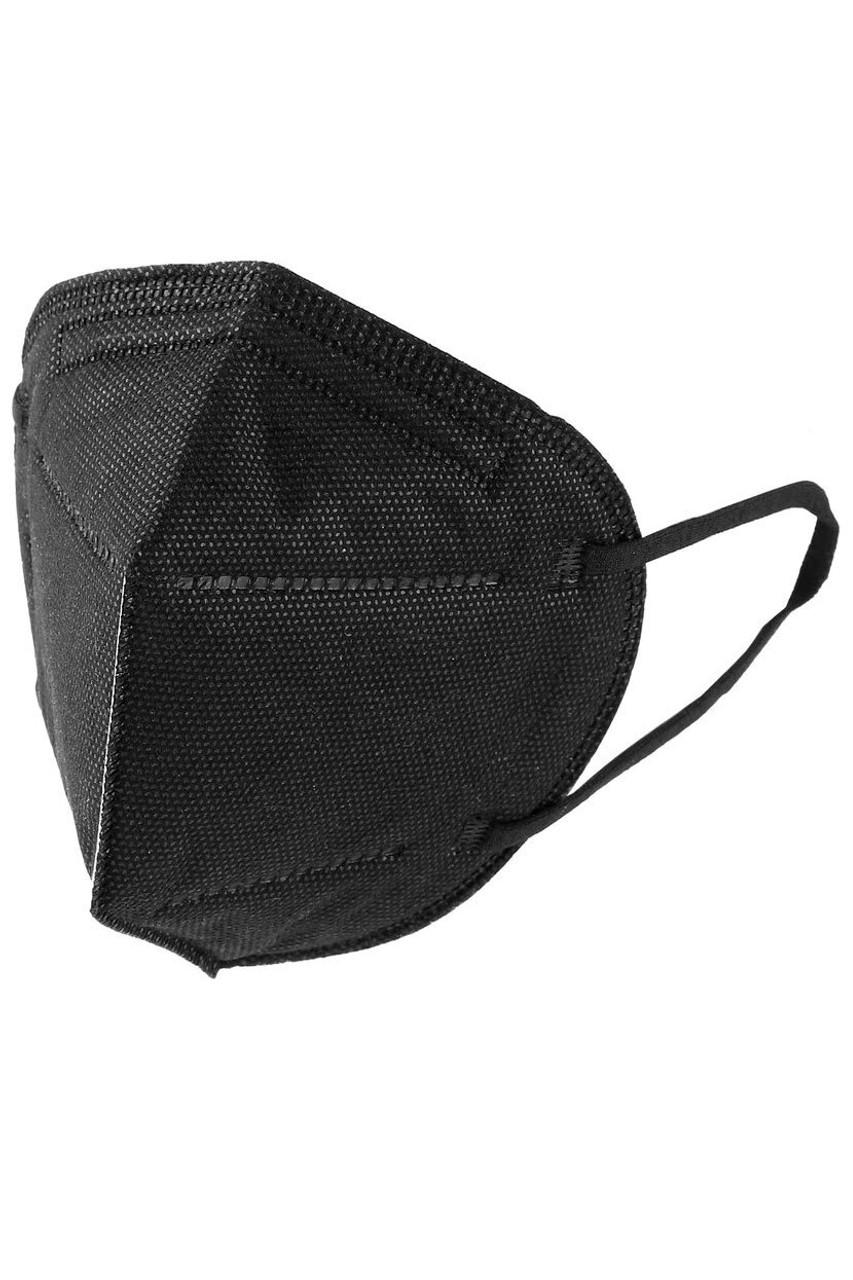 Side image of Black KN95 Face Mask - 50 Pack