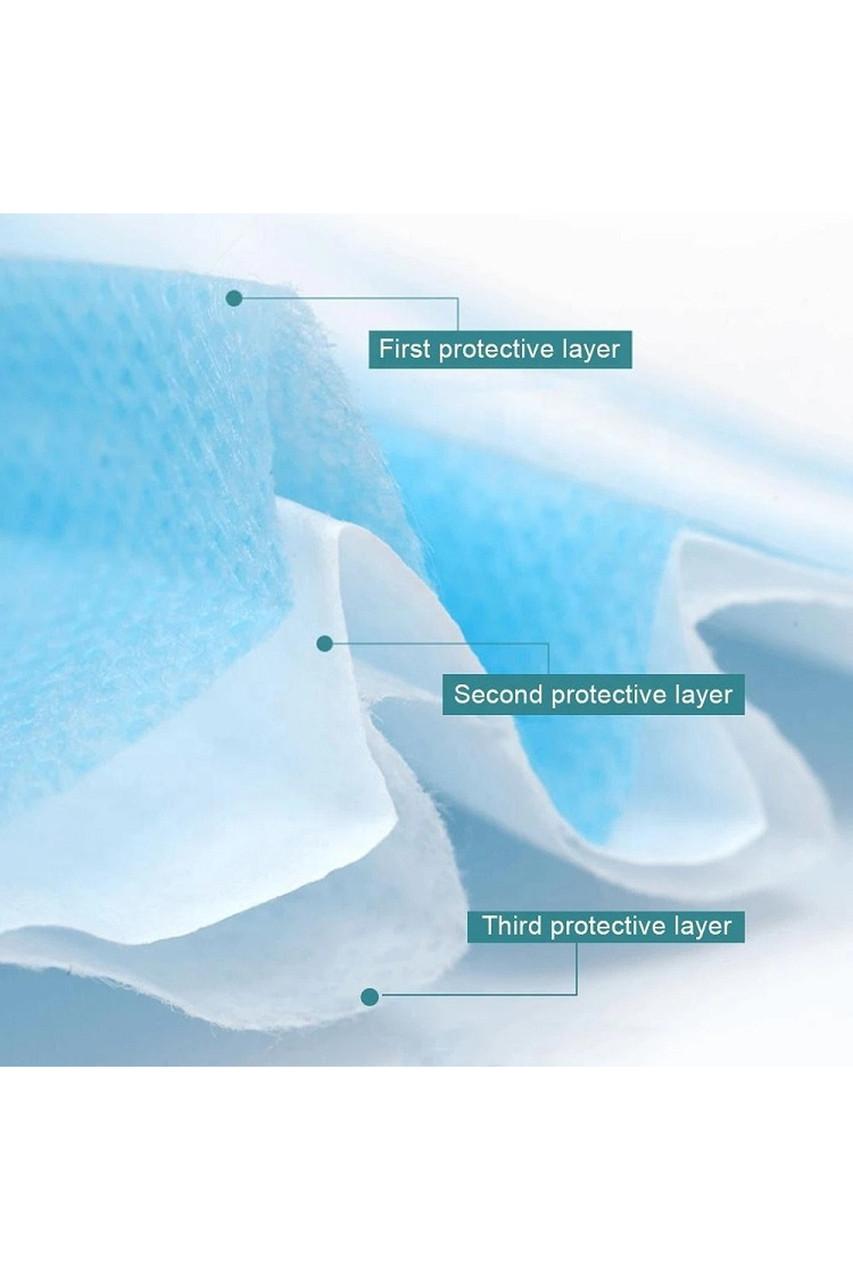 Blue Disposable Face Masks - Bulk 10 Pack