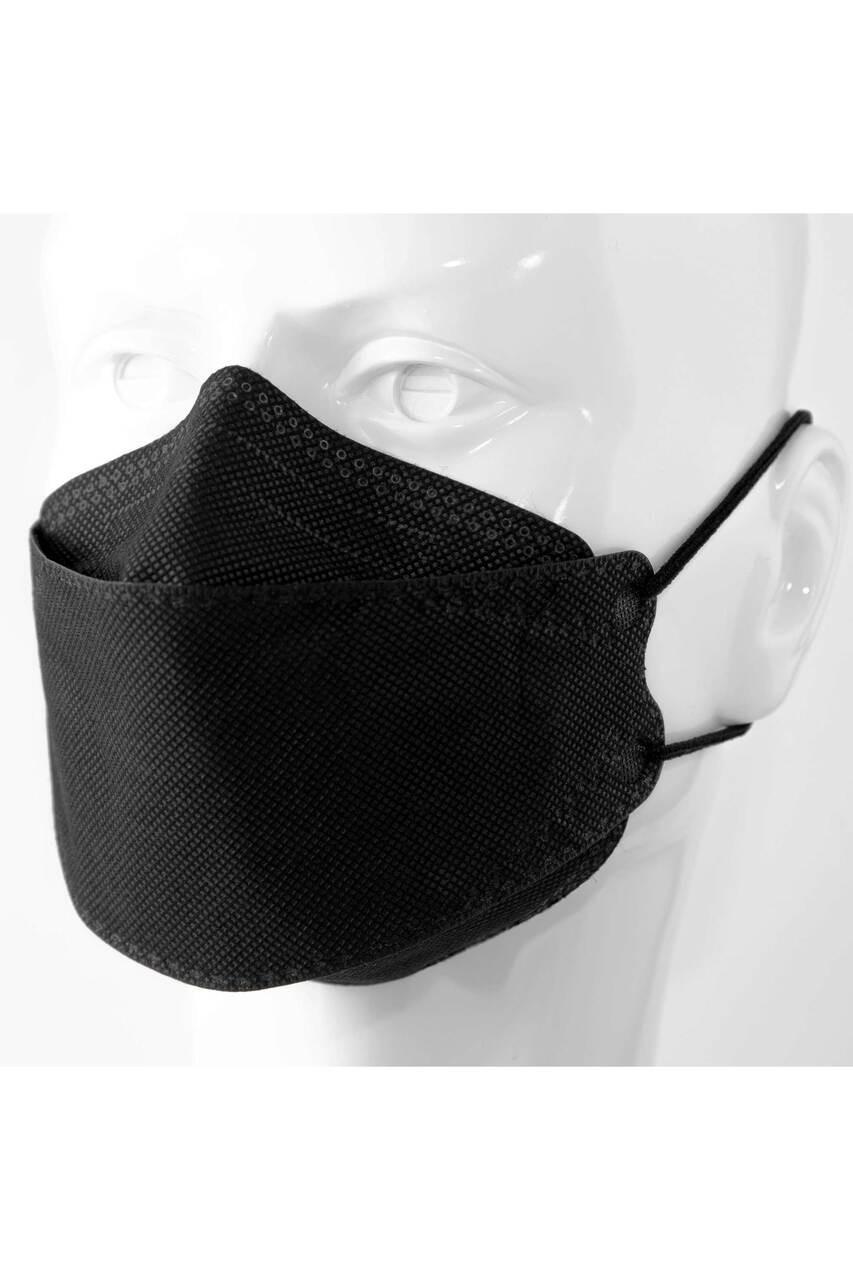 Black KF94 Face Mask - Individually Sealed - Premium Oral Respirator - 50 Pack