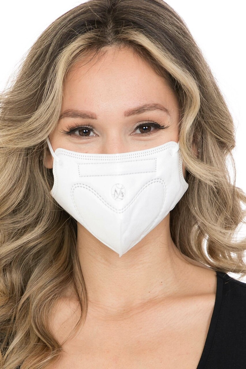 White 10 Pack - KN95 Face Mask - Comfort Fit - Individually Sealed