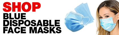 Shop Blue Dispoable Facer Masks