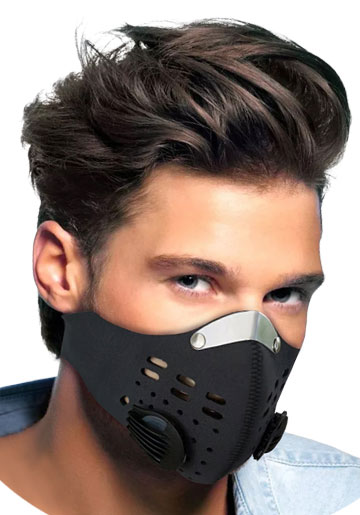 Sport oral air filtration mask designed to filter air pollution and contaminents