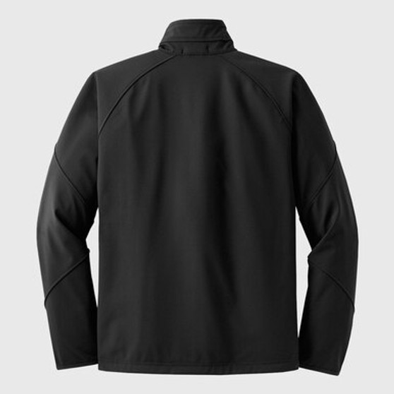 UCSD Embroidered Logo Men's Textured Soft Shell Jacket