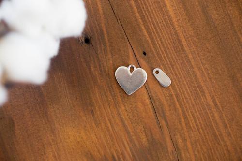 Small Pewter Heart Charm Bracelet