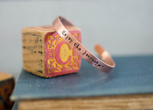 Enjoy the Journey Cuff Bracelet