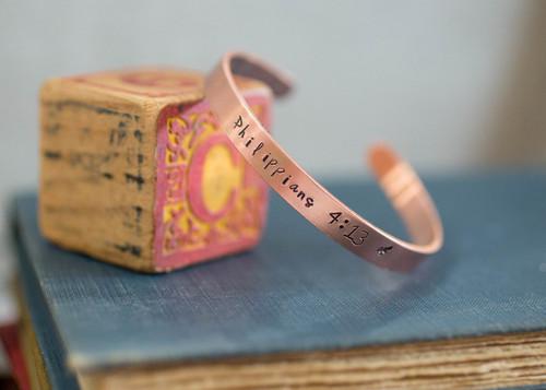 Philippians 4:13 Cuff Bracelet
