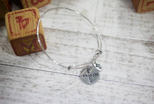 Amazing Grace Bangle Bracelet