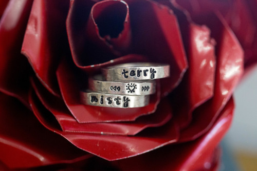 4mm Pewter ring, personalized