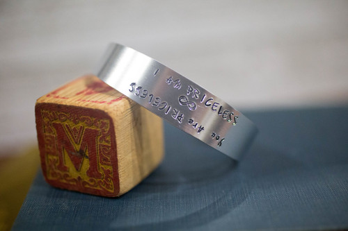 I am/ You are Priceless Tapered Cuff  Reflection Bracelet