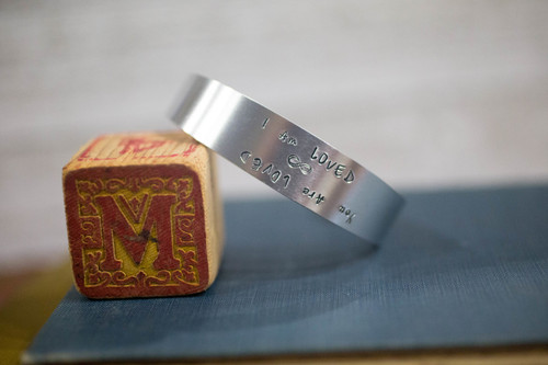 I am/ You are Loved Tapered Cuff Reflection Bracelet