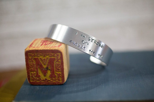 I am/ You are Strong Tapered Cuff Reflection Bracelet