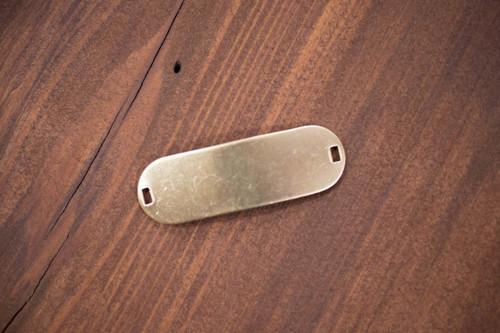 Brass Oval Blank Bracelet