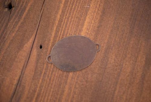 Oval Brass Connector Blank Bracelet