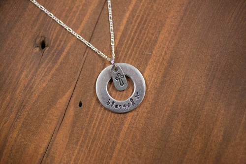 Blessed Washer Necklace