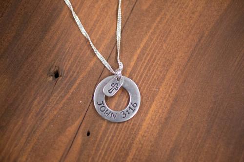 John 3:16 washer Necklace