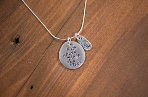 With Brave Wings she flies  Necklace