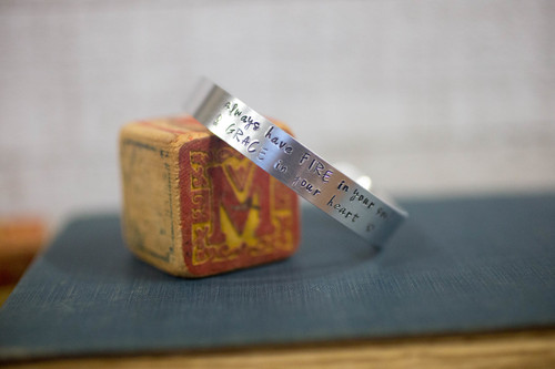 Always have fire in your soul & grace in your heart Cuff Bracelet