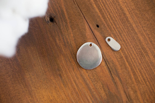 Create your own small pewter circle pet tag