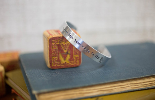 Never lose your wings to fly Cuff Bracelet