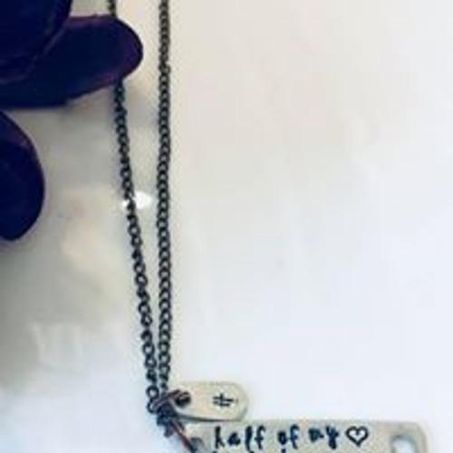 Half of my heart is in heaven necklace
