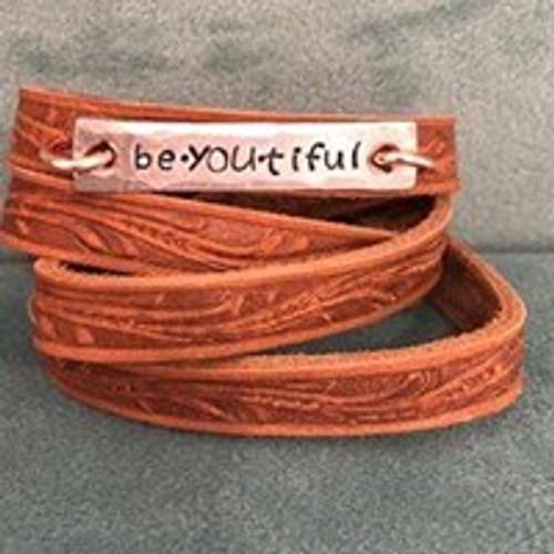 beYOUtiful  Wide Wrap Leather Bracelet