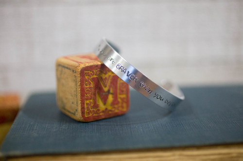 You are braver than you believe Cuff Bracelet