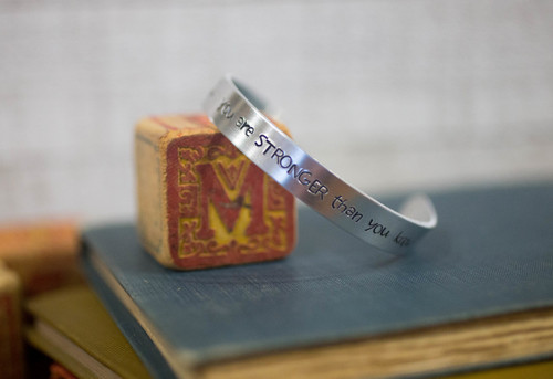 You are stronger than you know Cuff Bracelet