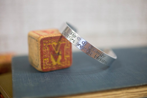 The love of a family is life's greatest blessing Cuff Bracelet