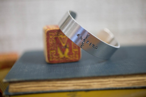 Amazing Grace Cuff Bracelet: Vertical