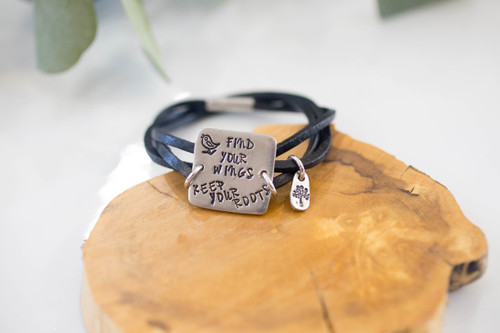 Find your wings, keep your roots Bracelet